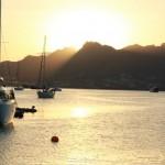 Fin solnedgång på Cape Verde